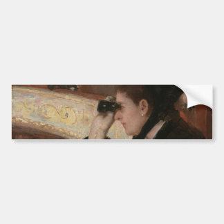 In the Loge by Mary Cassatt Car Bumper Sticker