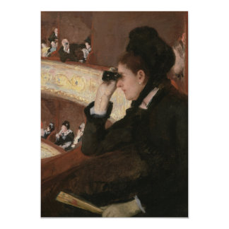 In the Loge by Mary Cassatt 5x7 Paper Invitation Card