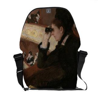 In the Loge by Mary Cassatt Messenger Bag