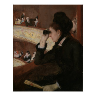 In the Loge by Mary Cassatt Poster