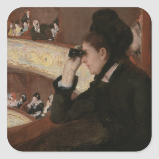In the Loge by Mary Cassatt Stickers