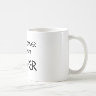 In the long run only power helps coffee mug