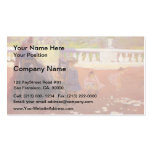 In the Luxembourg Gardens by Henri-Edmond Cross Business Card
