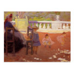 In the Luxembourg Gardens by Henri-Edmond Cross Post Card