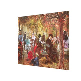In The Luxembourg Gardens Canvas Print