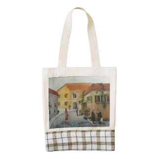 """""""In the Market"""" small tote bag"""