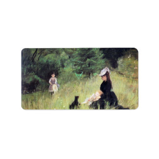 In the Meadow by Berthe Morisot Address Label