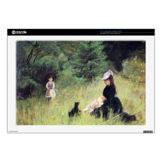 """In the Meadow by Berthe Morisot 17"""" Laptop Decal"""