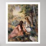 In the Meadow by Pierre-Auguste Renoir Poster