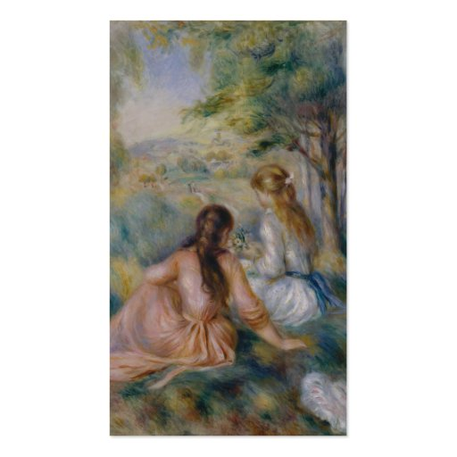 In the Meadow - Pierre-Auguste Renoir Business Card Templates