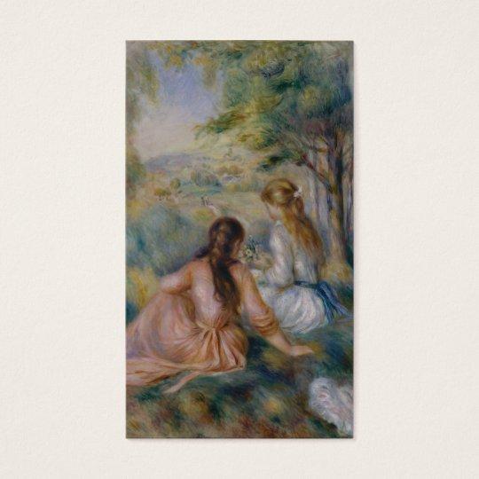 In the Meadow - Pierre-Auguste Renoir Business Card