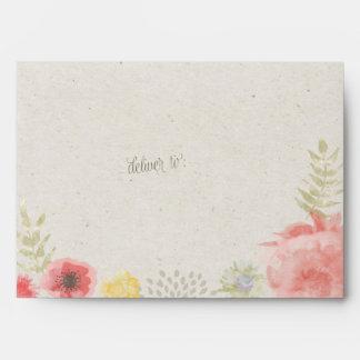 In the Meadow Summer Wedding Kraft Paper Envelope