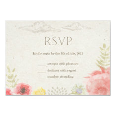 """In the Meadow Summer Wedding RSVP Card 5"""" X 7"""" Invitation Card at Zazzle"""