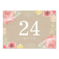 In the Meadow Summer Wedding Table Numbers