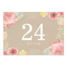 In the Meadow Summer Wedding Table Numbers 5x7 Paper Invitation Card at Zazzle
