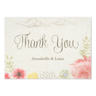 In the Meadow Summer Wedding Thank You Card