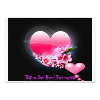 In the middle in the heart! personalized invite