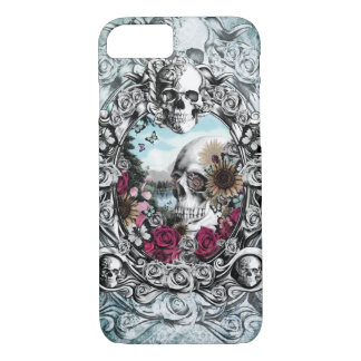 In the mirror landscape skull. iPhone 7 case
