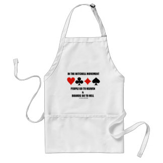 In The Mitchell Movement People Go To Heaven Hell Adult Apron