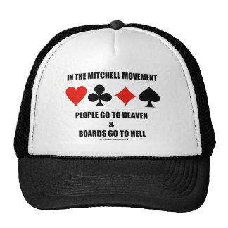 In The Mitchell Movement People Go To Heaven Hell Trucker Hat