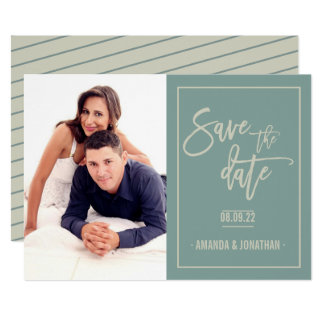 In The Moment and Wabi-Sabi Wedding Save the Date Card