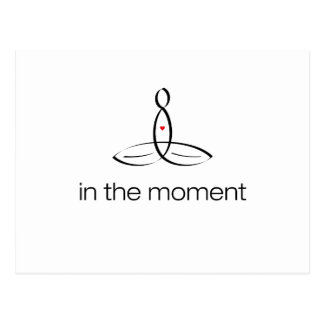 In The Moment - Black Regular style Postcard
