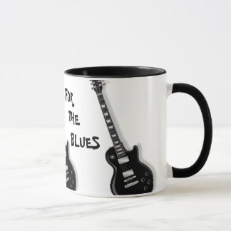 IN THE MOOD FOR THE BLUES Guitar Ceramic Mug