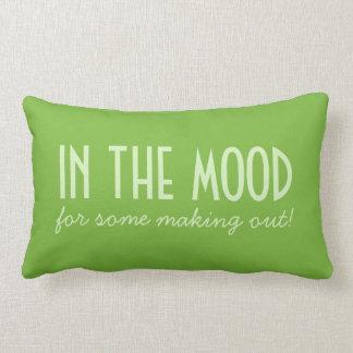 In The Mood / Not Tonight custom throw pillow