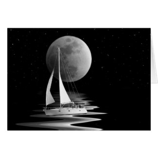 In The Moonlight Stationery Note Card