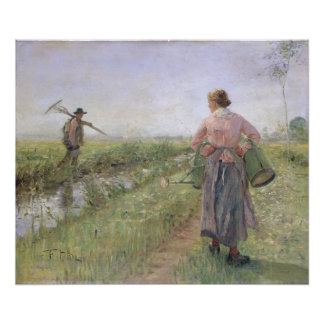 In the Morning, 1889 Poster