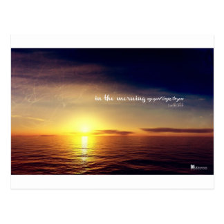 In the morning my soul longs for you post card