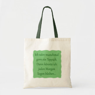 In the morning to lie remain tote bag