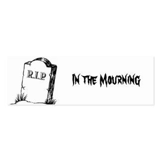 In The Mourning Bookmark Mini Business Card