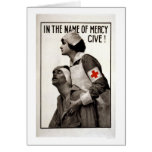 In the name of mercy give! greeting card