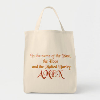 In the name of the yeast tote bag