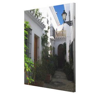 In the Narrow Streets of Frigiliana Canvas Print