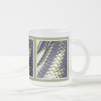 In The Net 2 Frosted Glass Coffee Mug