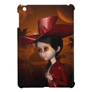 In the night, beautiful girl case for the iPad mini