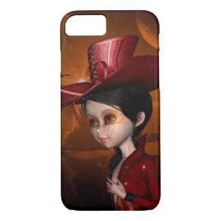 In the night, beautiful girl iPhone 7 case