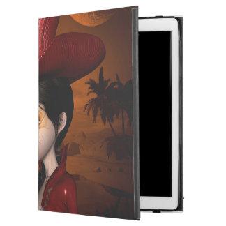 """In the night, cute girl iPad pro 12.9"""" case"""
