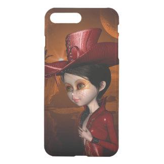In the night, cute  girl iPhone 7 plus case