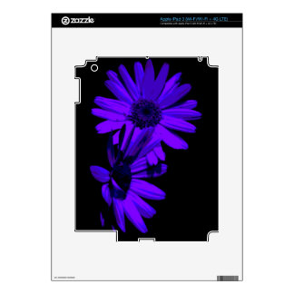 In the Night Floral Pattern iPad Skin