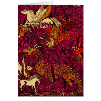 In The Night Forest Greeting Card
