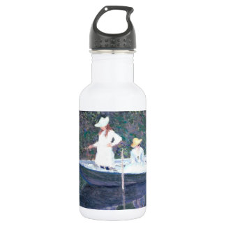 In the Norvegienne Boat at Giverny 18oz Water Bottle