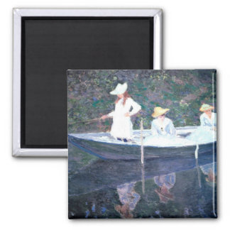 In the Norvegienne Boat at Giverny 2 Inch Square Magnet