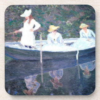 In the Norvegienne Boat at Giverny Beverage Coasters
