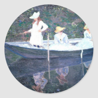 In the Norvegienne Boat at Giverny Classic Round Sticker