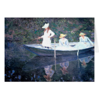 In the Norvegienne Boat at Giverny Greeting Card