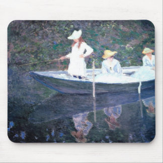 In the Norvegienne Boat at Giverny Mouse Pad