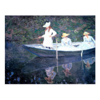 In the Norvegienne Boat at Giverny Postcard